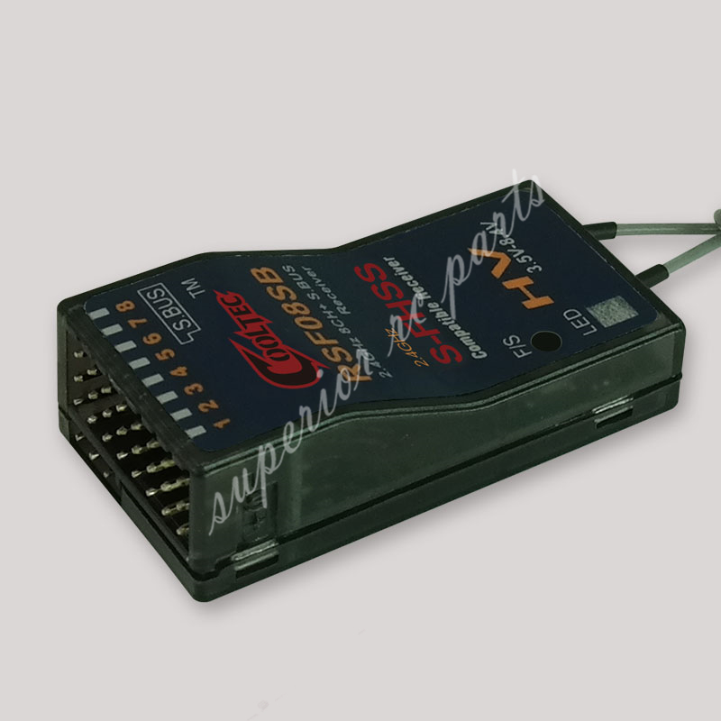 Cooltech RSF08SB 8ch Futaba S-FHSS S. BUS Kompatiblen Receiver für 10J 8J 6 Karat 6J 10J 14sg 18MZ WC 18SZ Frsky Delta 8 RC modell