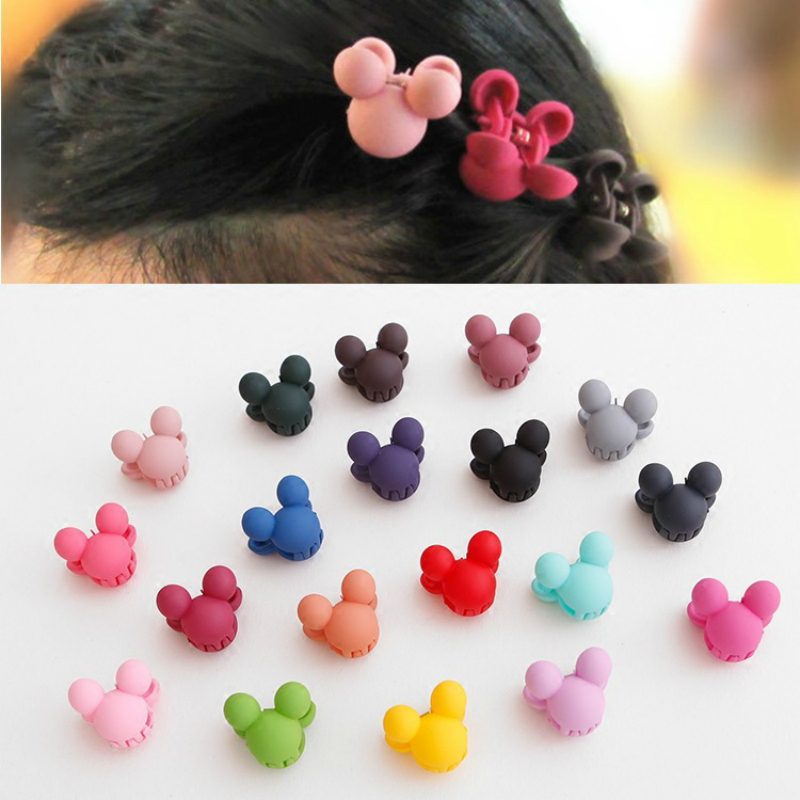 10Pcs/lot Children Hairpin Handmade Minnie Mickey Bowknot Wings Stars Hair Clips Accessories Kids Girls Barrettes Headwear