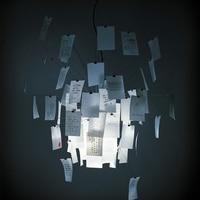 Modern Dia 47.24 Ingo Zettel'z 5 Paper Zettel Pendant Lamp Suspension for Bedroom Dinning Room Living Room Pendant Light B063