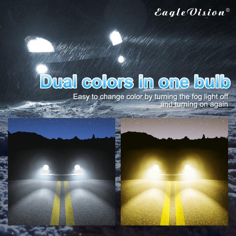 1 пара двойной Цвет белый и желтый h8/h11 880/881 9005/9006