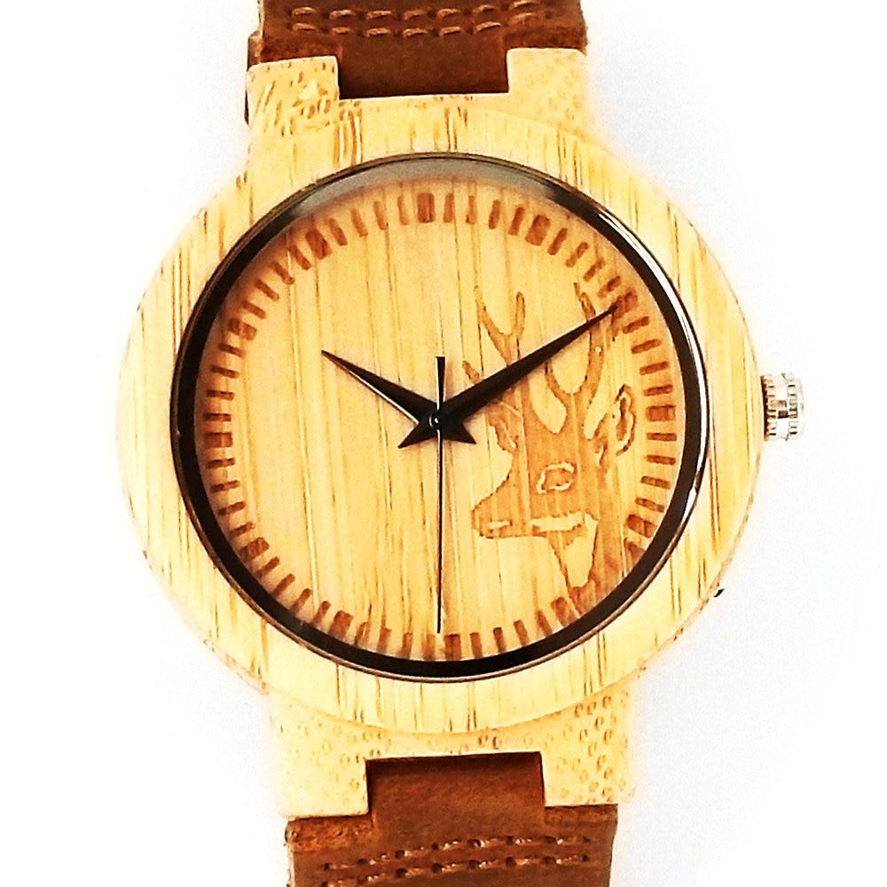 Bambus Holz Uhren für Männer Frauen Quarz Analog Casual hochwertige - Damenuhren