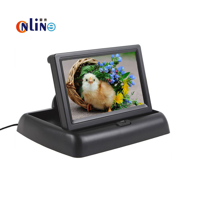 Sale New 4.3 TFT LCD Car Monitor With 2Ch Video Input For Car Rear View Reversing Camera Or DVD Support NTSC / PAL