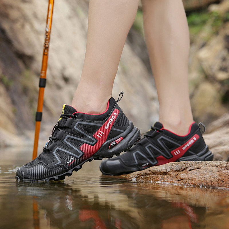 39-47 Outdoor Hiking Sport Shoes Men Sneakers Camping Climbing Trekking Shoes Tactical Boots Waterproof Shoes botas tacticas(China)