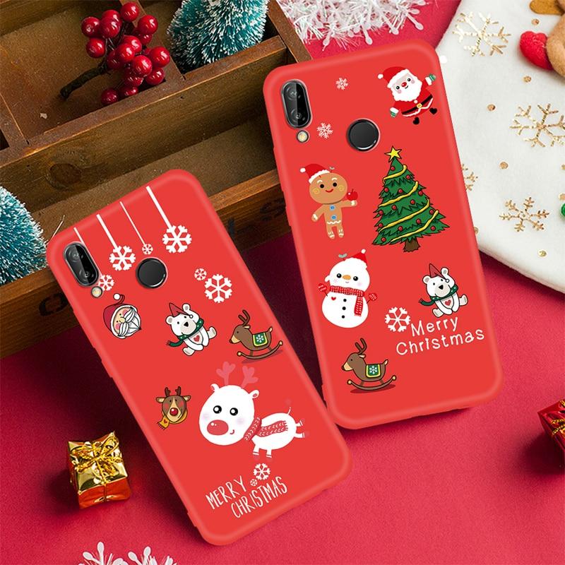 Case For Huawei P20 Lite Pro Mate 20 P10 Lite Nova 3 3E 3I 2I P Smart Plus Cartoon Christmas Santa For Honor 9I Christmas