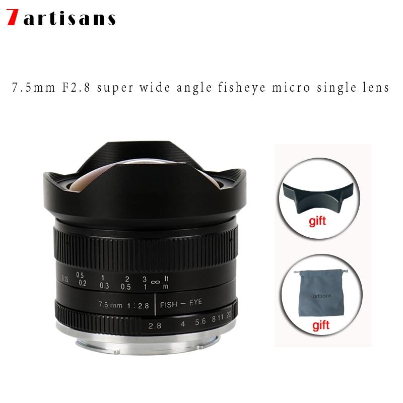 7 artesãos 7.5mm f2.8 fisheye lens 180 APS C Manual Lente Fixa Para E  Montar Canon EOS M Monte Fuji FX montar Venda Quente Frete Grátis em Lente  da câmera ... 1c526af7bf
