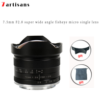 7artisans 7.5mm f2.8 fisheye lens 180 APS C Manual Fixed Lens For E Mount Canon EOS M Mount Fuji FX Mount Hot Sale Free Shipping