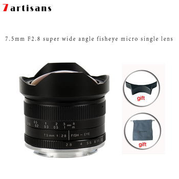 Trev's 7artisans 7.5mm f2.8 fisheye lens 180 APS-C Manual Fixed Lens For E Mount Canon EOS-M Mount Fuji FX Mount Hot Sale Free Shipping