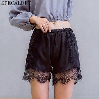 White Black Safety Shorts Pants Women Casual Silk Lace Shorts Summer Sexy Underwear Women Shorty Femme Ladies Short Pants Шорты