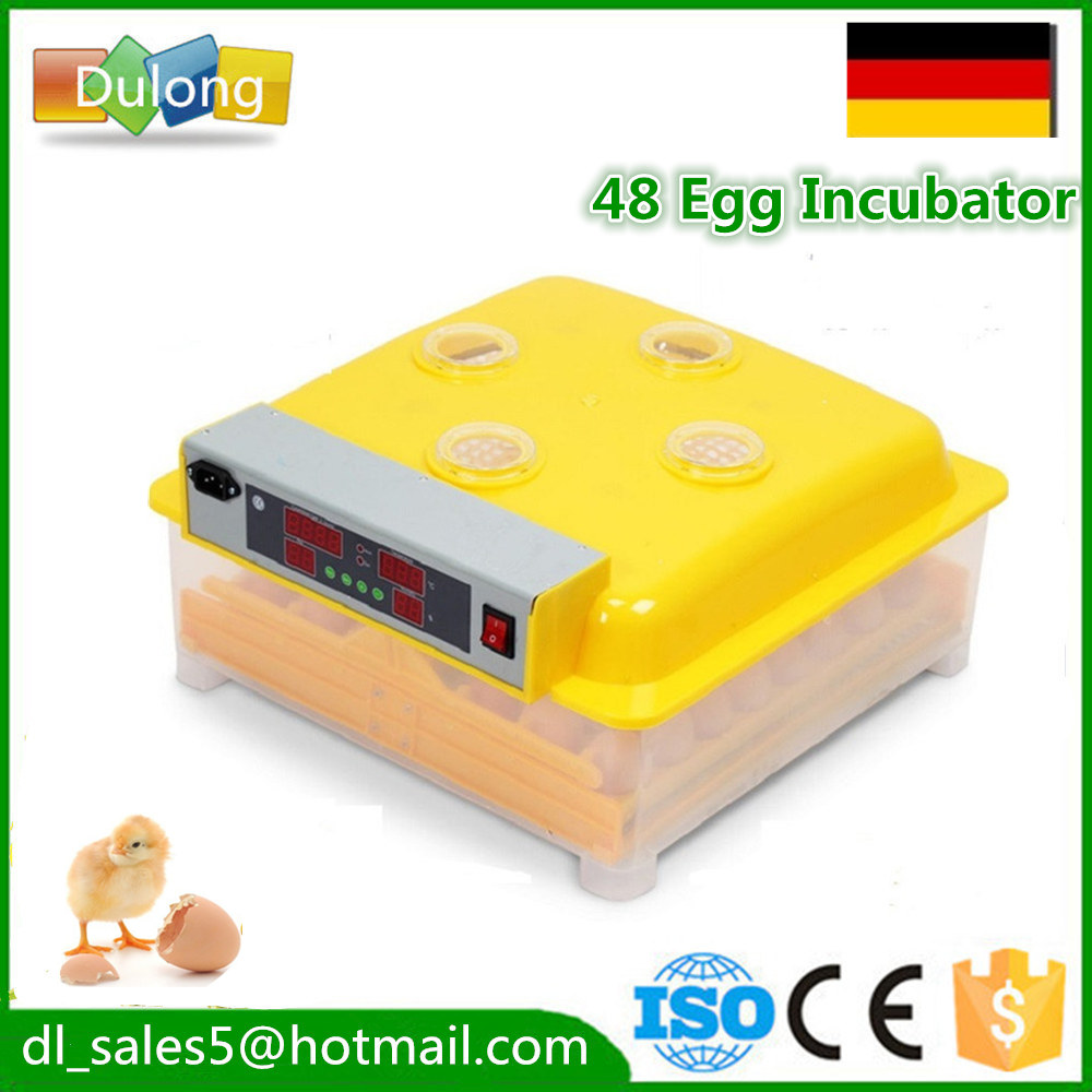 China Automatic Egg Incubator Mini Industrial Brooder Hatchery Machine For Hatching 48 Chicken Duck Quail Poultry Eggs