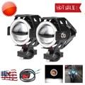 2PCS 125W motorcycle headlights auxiliary lamp U5 U7 led motorbike driving spotlight 12V 3600lm Fog Headlamp DRL