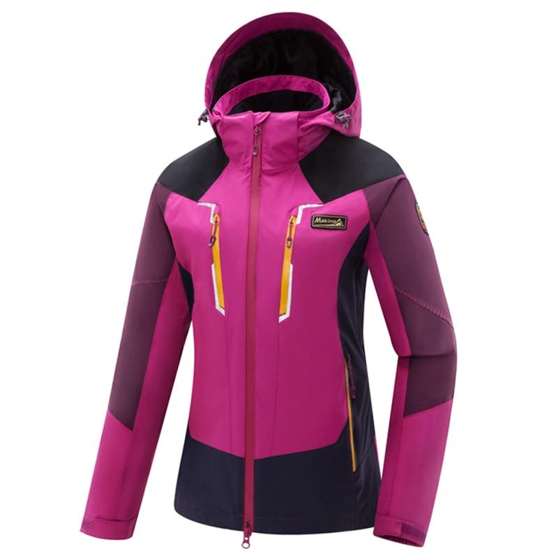 ФОТО Hiking Jackets Skiing Jackets outdoor Jackets women warm waterproof windstop jacket triple 3-in-1 coat