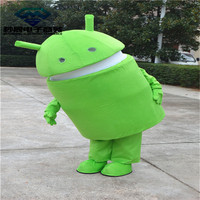 Professional Android Robot Mascot Costume Dress Adult Size