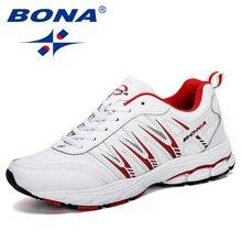 BONA 2019 Yeni Stil Erkekler koşu ayakkabıları Nefes Açık Havada spor ayakkabı Erkek Zapatos Hafif Atletik Adam Sneakers Ayakkabı