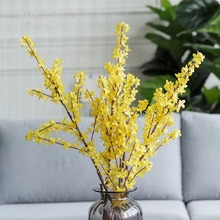 1 PC 100 cm Beautiful Artificial Winter Jasmine Plastic Branch with yellow flowers Home Decoration silk flower high quality