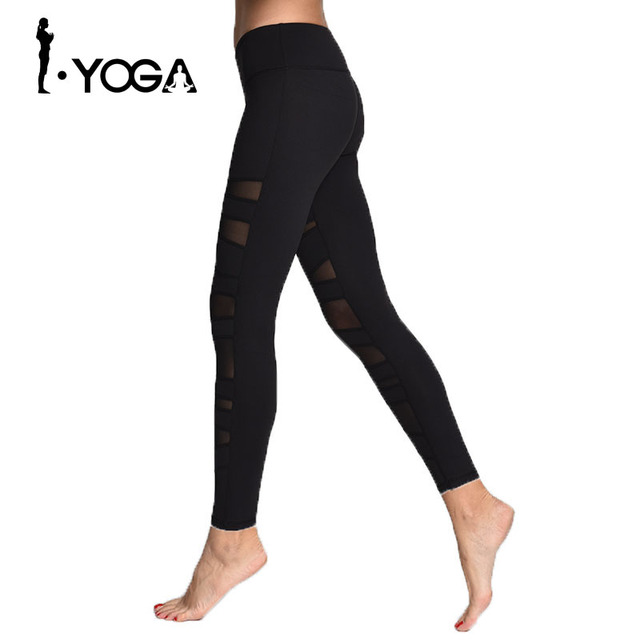 c9e8e14cee7c2 Yoga Pant Womens Tights Running Leggings Sports Pants Female Women Gym  Running Mesh Workout Pants Fitness Yoga Pants 15023