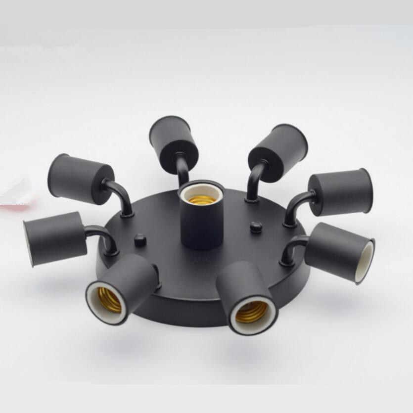 Simple โคมไฟเพดานเหล็ก E27 หลอดไฟ led โคมไฟห้องนั่งเล่นสี่สีแฟชั่นโคมไฟเพดาน led luster โคมไฟเพดาน Z5