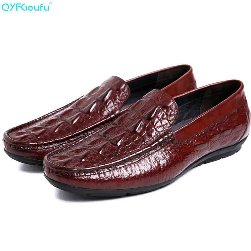 QYFCIOUFU High Quality Genuine Leather Men Loafers Fashion Slip-on Driving Shoes Men Moccasin Boat Shoes Causal Flats Men ShoesQYFCIOUFU High Quality Genuine Leather Men Loafers Fashion Slip-on Driving Shoes Men Moccasin Boat Shoes Causal Flats Men Shoes