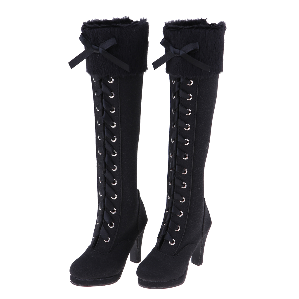 7e8d19e380 ộ_ộ ༽Stylish 1/3 BJD Shoes Suede Knee-High Boots Zipper Martin ...