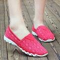 Женская Классика летом стиль женской обуви Дышащая скольжения на квартиры повседневная балета платье бездельник