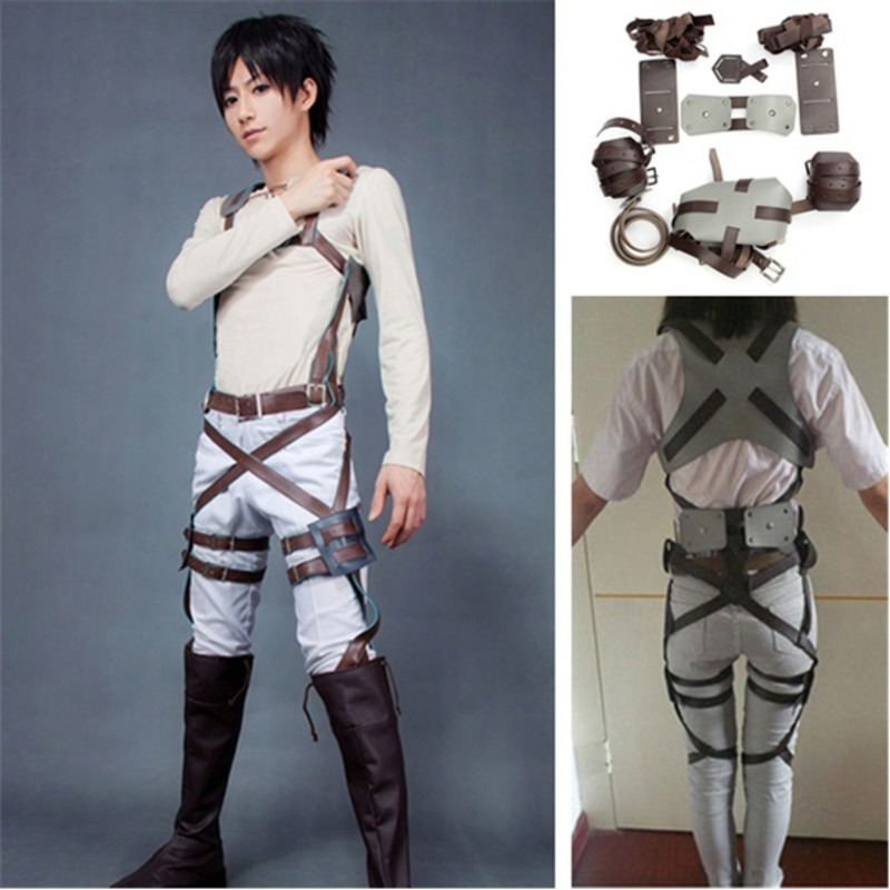 Anime Cosplay Attack On Titan Shingeki No Kyojin Recon Corps Harness Belt Hookshot Costume Halloween Party Adjustable Straps