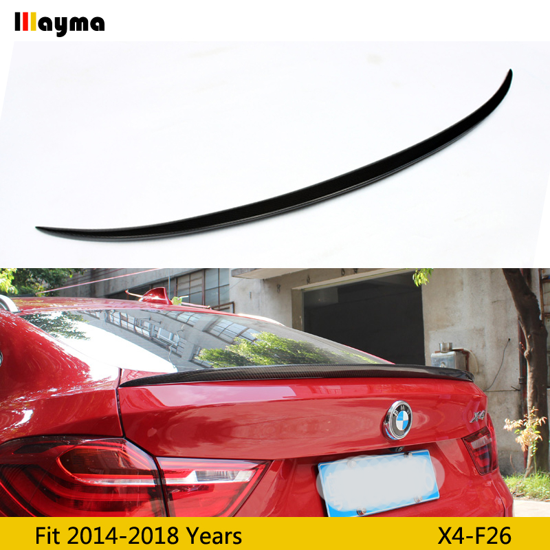 M style Carbon Fiber rear trunk spoiler For BMW X4 xDrive 20i28i 35i M40i 2014-2018 year F26 M Performance Car spoiler WingM style Carbon Fiber rear trunk spoiler For BMW X4 xDrive 20i28i 35i M40i 2014-2018 year F26 M Performance Car spoiler Wing