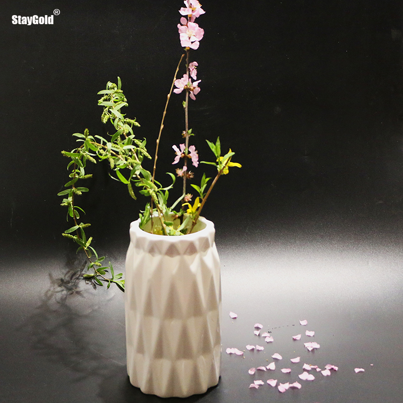Staygold flower vase home room decoration ceramic modern tabletop porcelain jardiniere mariage wedding household party gift