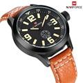 Luxury Brand NAVIFORCE Moda Casual Cuarzo Reloj de Los Hombres Fecha Reloj de Cuero Masculino Ejército Militar Reloj Relogio masculino