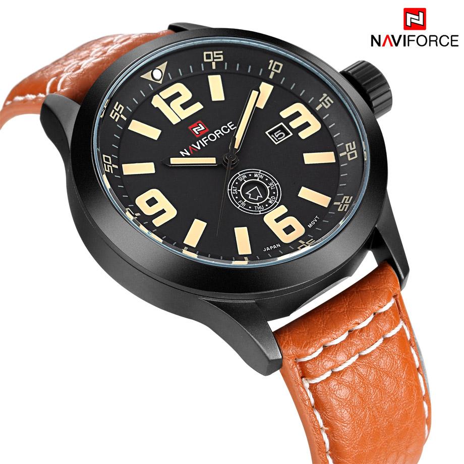 Prix pour NAVIFORCE De Luxe Marque Mode Casual Quartz Hommes Sport Montre Date Horloge Mâle En Cuir Armée Militaire Montre-Bracelet Relogio Masculino