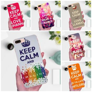 TPU 2017 New Arrival Keep Calm Love For Huawei Honor 4C 5A 5C 5X 6 6C 6A 6X 7 7X 8 9 V8 V10 Y3II Y5II Y6II G8 P7 Play Lite