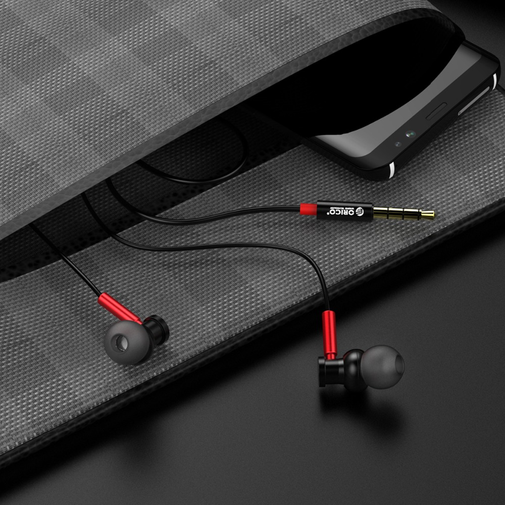Red and Black Wired Earphones 7