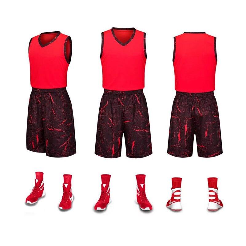 LUCXES Баскетбол Майки мальчиков дышащий пользовательские круглый вырез горловины мужчин Баскетбол униформы колледжа Баскетбол костюмы DIY пе...