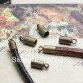 500 шт./лот бронза тон ожерелье на конце шнура Tib бусины шапки ж / петля Fit 3 мм кожаный шнур
