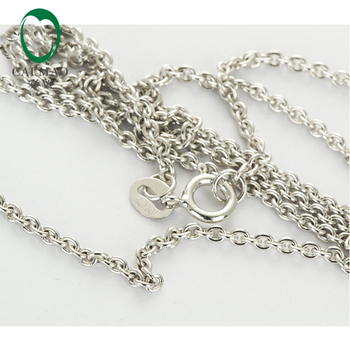 LADIES Solid 18k/750 White Gold Chain Necklace 18