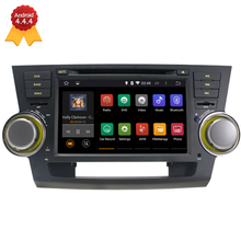 1024*600 Quad Core Android 4.4.4 Fit TOYOTA HIGHLANDER 2008 2009 2010 2011 2012 2013 Car DVD Player GPS Navigation TV 3G Radio