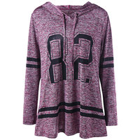 CharMma 2017 Hoodies Women Plus Size 5XL Fashion Long Sweatshirt Pullovers Maxi Autumn Winter Casual Marled