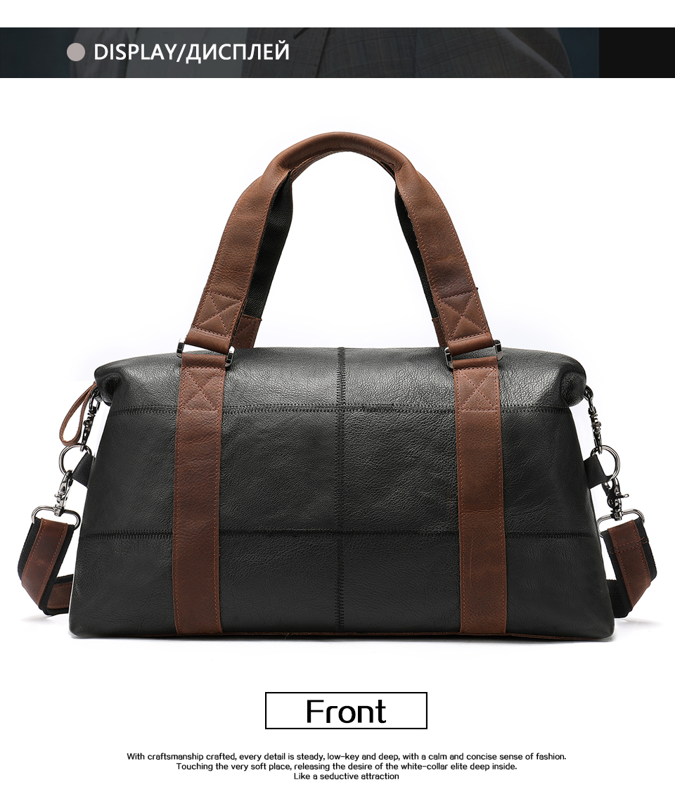 MVA Genuine Leather Men s Travel Bag Vintage Duffle Bags Large Capacity Bag  Male Messenger Men Handbags Weekend Duffle 9527 09dc5d22e081a