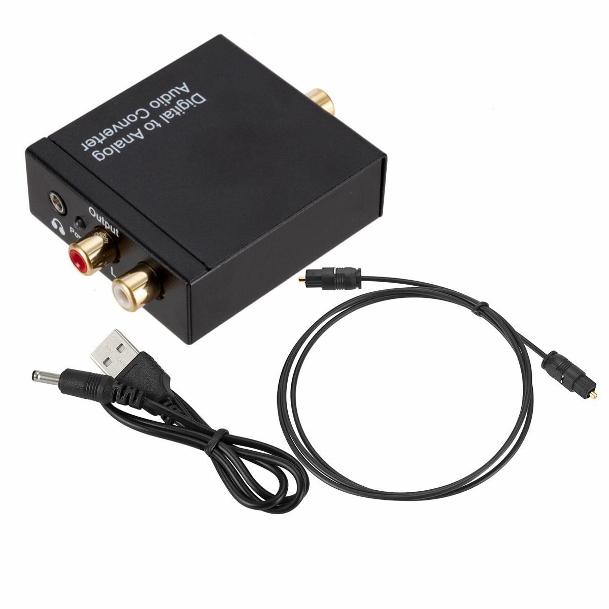 3,5mm Jack Zu 2rca Toslink Koaxial Optische Digitale Faser Zu Analog Audio Aux L/r Konverter Spdif Digital Audio Decoder Verstärker Tragbares Audio & Video