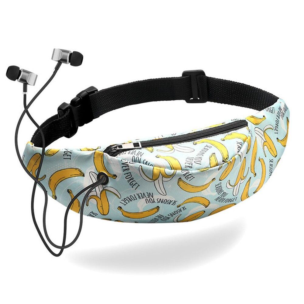 3D Colorful Print Women Waist Bag Girls Fanny Packs Hip Belt Bags Money Travelling Mountaineering Mobile Phone Bag Waist Packs