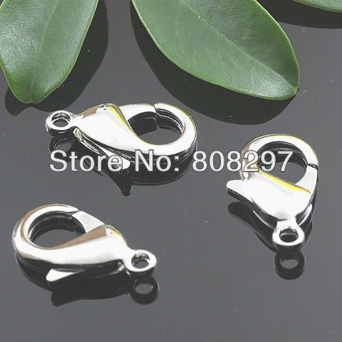 Своими руками 10, 12, 14, 16 мм подвески-талисманы покрытие родием медь лобстер-застёжка разъемы застежками для браслет ожерелье ювелирные изделия поиск