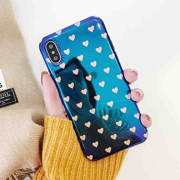 LOVECOM Blu-Ray Phone Case For iPhone XR XS Max X 6 6S 7 8 Plus Love Heart Soft IMD Phone Back Cover Coque For iPhone XR Gift