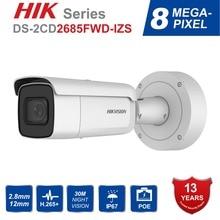 Hik переменным фокусным 2,8-12 мм 8MP Пуля IP Камера DS-2CD2685FWD-IZS видеонаблюдение видеокамера POE CCTV H.265 ИК 50 м