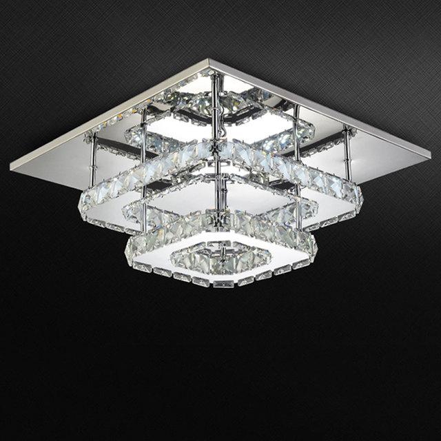 AC100 240V Moderne Kristall Lampe Deckenleuchte Edelstahl Esszimmer Schlafzimmer Wohnzimmer Lampen Kunst Deco Startseite