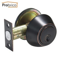 Probrico Security Door Lock With Key Stainless Steel DLD101ORBDB Door Handles Safe Entrance Locker USA Domestic