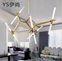 Free shipping Creative Branch Arts Pendant Light lamp Modern Italian Design Personality Living Room Restaurant Lamps fixtures