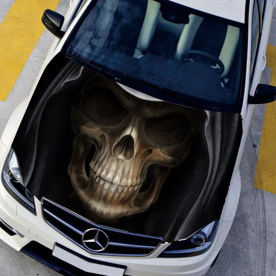 Customizable Hd Skull Hood Decal Car Bonnet Graffiti