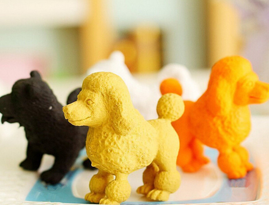 2017 New Year Animal Eraser Cute Dog Eraser Stationery Eraser For School Promotion Gift With 4 Different Colors  MOQ 4 Pcs