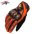 Pro-biker guantes moto motocicleta motocross motor equitación bicicleta de ciclo completo dedo guantes de moto guantes de orange mcs-23