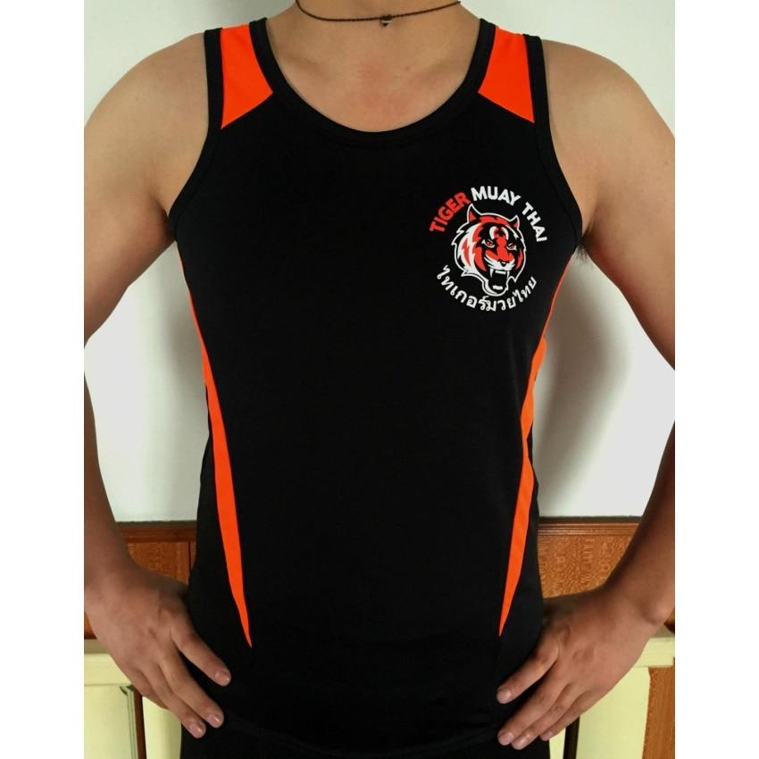 Black Tiger Muay Thai MMA training vest breathable absorbent mma muay thai
