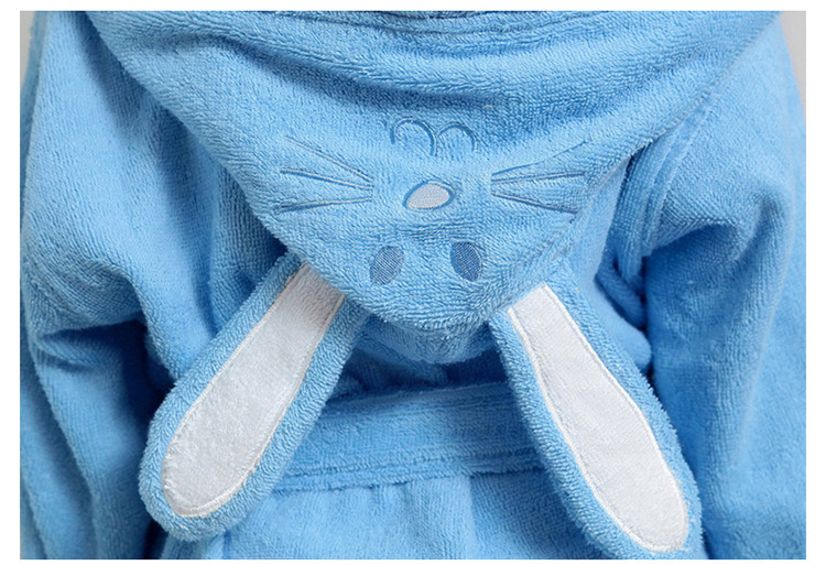 f261467869 Dropwow Hooded Towel Child Bathrobe Kids Boys Girls Robe Cotton ...