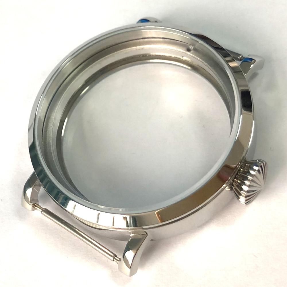 46mm Debert stainless Steel watch Case fit 6497 6498 ST36 hand winding movement46mm Debert stainless Steel watch Case fit 6497 6498 ST36 hand winding movement